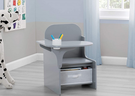 Scaun multifunctional din lemn Plain Grey
