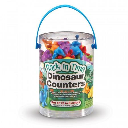 Set pentru sortat si numarat - Dinozauri jucausi (72 piese)