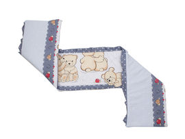 Aparatoare Laterala MyKids Teddy Friends Gri M1 120x60