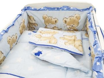 Lenjerie MyKids Teddy Hug Blue M1 5 Piese 120x60 cm