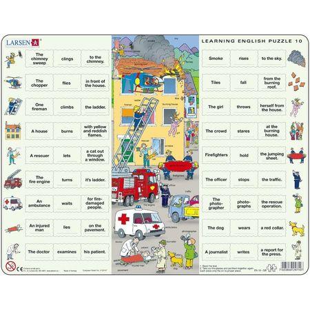 Puzzle Invatam Limba Engleza Nr10, 54 Piese Larsen LREN10-GB