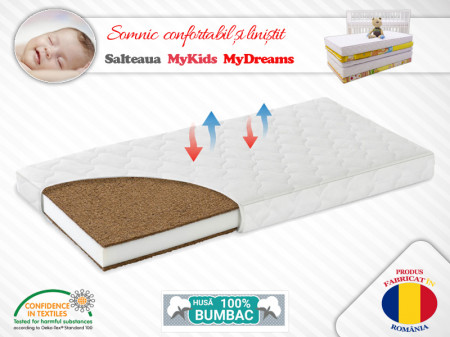Saltea Fibra Cocos MyKids MyDreams II 160x65x15 (cm)