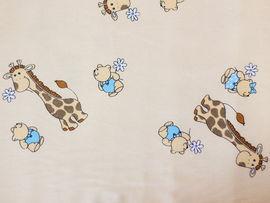 Aparatoare Laterala MyKids Mini Giraffe Crem 120x60