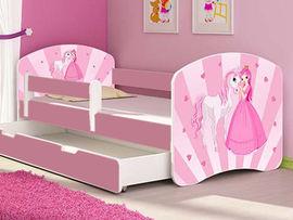 Patut Tineret MyKids Poney-Princess cu Sertar si Saltea 160x80
