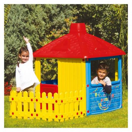 Casuta cu gard pentru copii