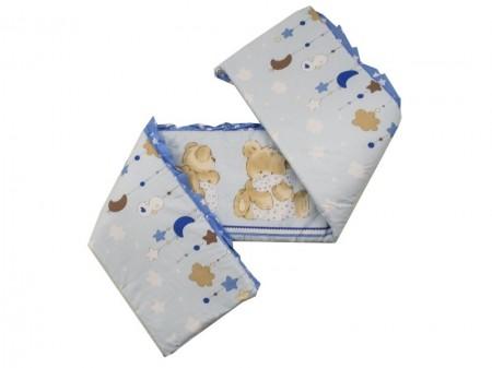 Lenjerie MyKids Teddy Hug Blue 4+1 Piese 120x60
