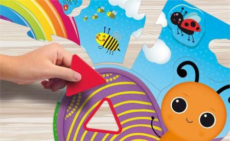 Puzzle de podea - Fluturas cu forme si culori (29 piese)