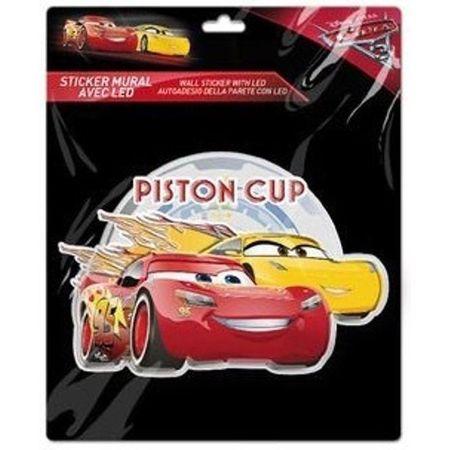 Sticker de perete cu led Cars Piston Cup SunCity LEY2265LRA
