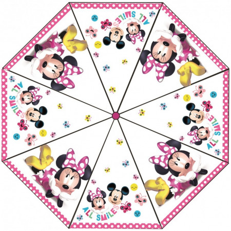 Umbrela transparenta Minnie, diametru 76 cm SunCity CTL008837