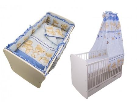 Lenjerie MyKids Teddy Hug Blue M1 5+1 Piese M2 140x70 cm