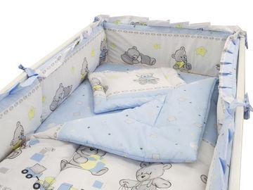 Lenjerie MyKids Teddy Toys Blue M2 4+1 Piese 120x60