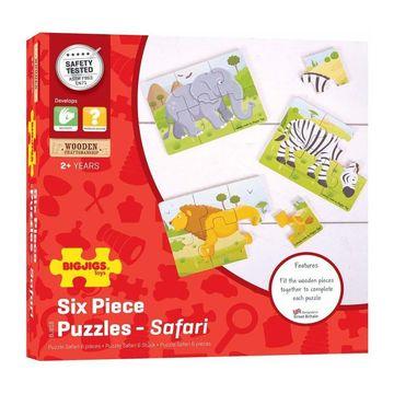 Set 3 puzzle din lemn - Jungla Vesela