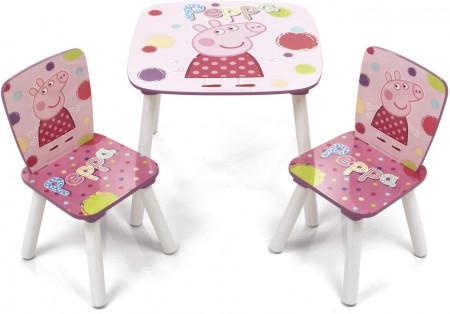 Set masuta si 2 scaunele Peppa Pig