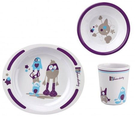 Set pentru masa din melamina LITTLE MONSTER Thermobaby