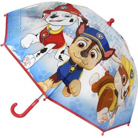 Umbrela transparenta Paw Patrol, diametru 66 cm SunCity CEP2400000399