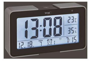 Termometru si higrometru cu senzor de lumina negru TFA 60.2540.01