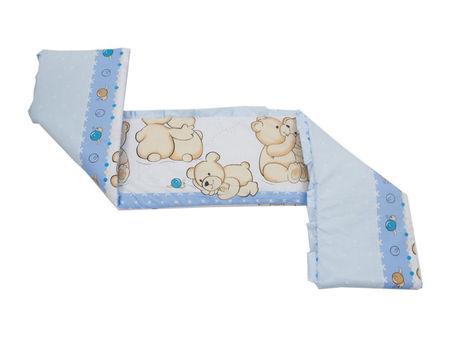 Lenjerie MyKids Teddy Friends Albastru 4 Piese M1 140x70