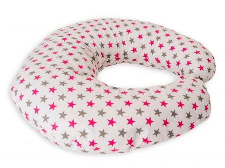 Perna De Alaptare Mica MyKids Stelute Gray Pink