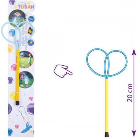 Bat cu inele pentru baloane de sapun Ring Mini Butterfly 20 cm Tuban TU3615