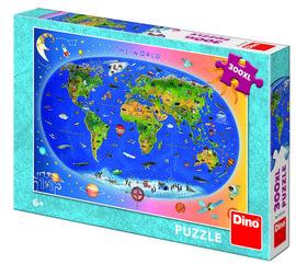 Puzzle XL - Harta Lumii (300 piese)