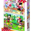 Puzzle 2 in 1 - Minnie la treaba (77 piese)