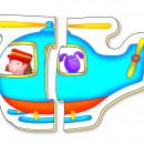 Baby Puzzles: Set de 6 puzzle-uri Transport (2 piese)