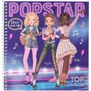 Carte de colorat cu stickere Carte de colorat Top Model Make-up Studio Depesche PT11452