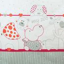 Lenjerie MyKids My Zoo Rosu 4 Piese 140x70
