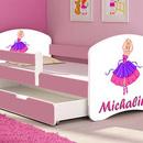 Patut Tineret MyKids Ballerina cu Sertar si Saltea 160x80