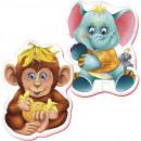 Puzzle Bebe Maimutica-Elefantel Roter Kafer RK1101-03