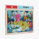 Puzzle din lemn - Animalute jucause