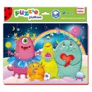 Puzzle Funny Monsters 24 piese Roter Kafer RK1201-03