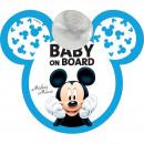 Semn de avertizare Baby on Board Mickey Disney CZ10423