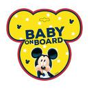 Semn de avertizare Baby on Board Mickey Seven SV9612