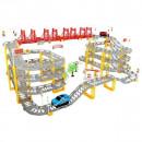 Set circuit supraetajat gigant 8m cu 2 masinute incluse, 236 piese Iso Trade MY17319