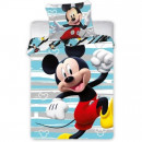 Set lenjerie pat copii Mickey Run 100x135 + 40x60 SunCity FRA586646
