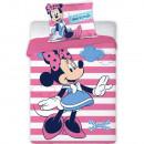Set lenjerie pat copii Minnie Stripes 100x135 + 40x60 SunCity FRA576524