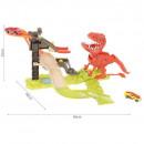Set pista lansator Dinozaur cu 2 masinute incluse Iso Trade MY17481