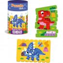 Set puzzle-uri din betisoare Dinozauri, 16 piese Roter Kafer RK1090-02