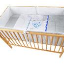 Lenjerie MyKids My Zoo Albastru 4+1 Piese 120x60 cm