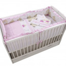 Lenjerie MyKids Teddy Play Pink M1 4+1 Piese 120x60