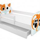 Patut Tineret cu sertar MyKids Animals Cat 140x70