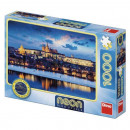 Puzzle Neon - Castelul Praga (1000 piese)