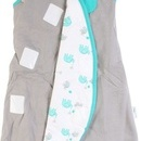 Sac de dormit multifunctional Grey Turquoise Elephant Travel 0-3 luni 2.5 Tog