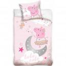 Set lenjerie pat copii Peppa Pig Tutu Cute 100x135 + 40x60 SunCity CBX202007PP