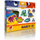 Set magnetic Dinozauri cu Plansa magnetica inclusa, 22 piese Roter Kafer RK2090-03
