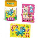 Set puzzle-uri din betisoare Lama si Unicorn, 16 piese Roter Kafer RK1090-01