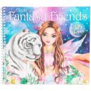Carte de colorat cu stickere Create Your Fantasy Friends Depesche PT11164