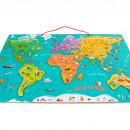 Harta lumii mare - puzzle magnetic