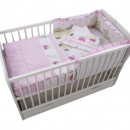Lenjerie MyKids Teddy Play Pink M1 4 Piese 140x70